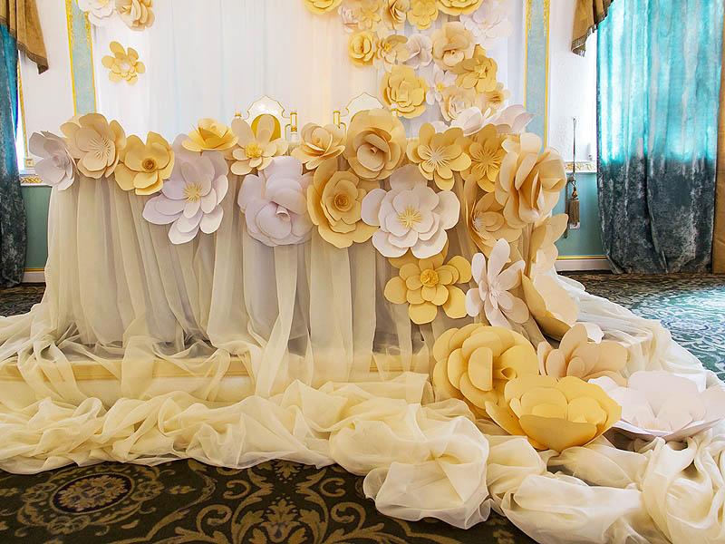 Бумажные цветы для оформления