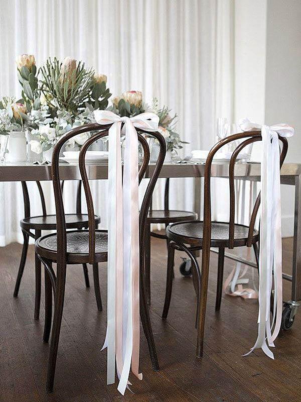 Ленты на свадьбу на стулья