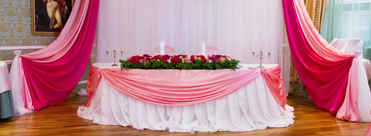 Оформление тканями свадьбы