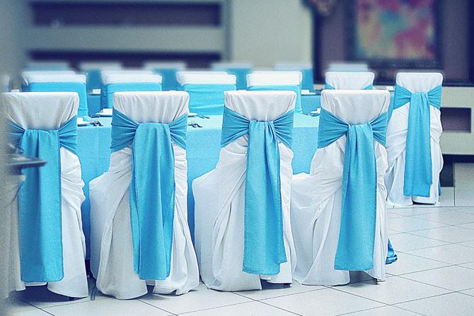 Свадебные банты на стулья