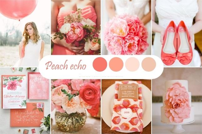 Персиковый оттенок свадьбы