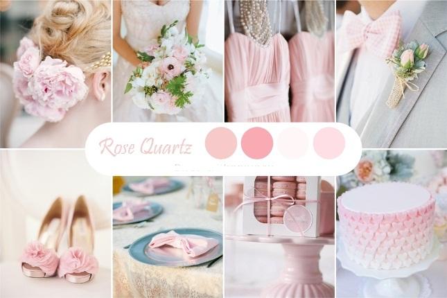 Розовый свадебный оттенок