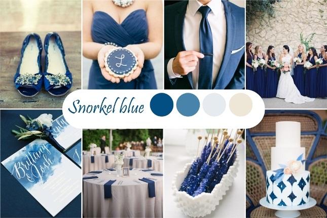 Синий оттенок свадьбы