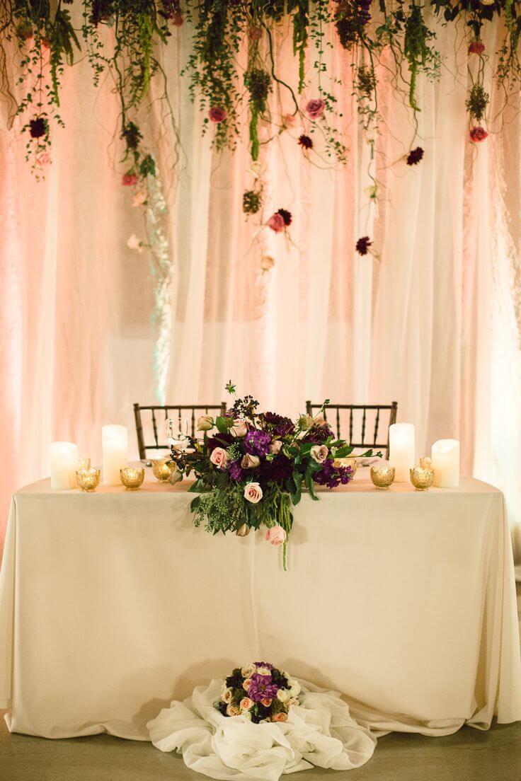 Свадебное украшение стола
