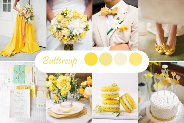 Желтый оттенок свадьбы