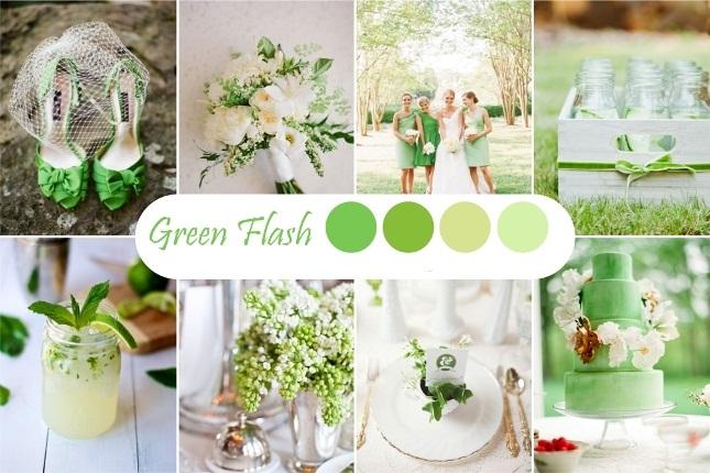 Зеленый оттенок свадьбы