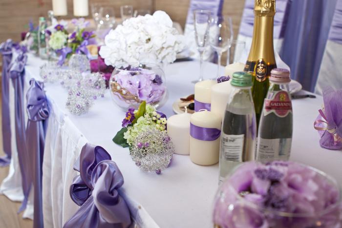 Украшение для свадебных столов своими руками