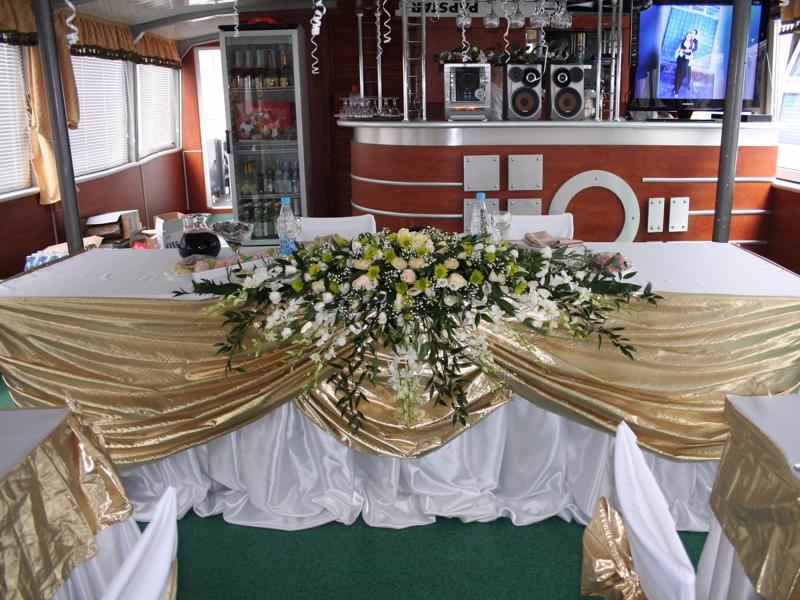 Оформление свадеб на теплоходе