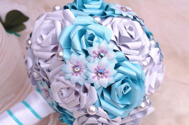 Букет цветов из бумаги на свадьбу
