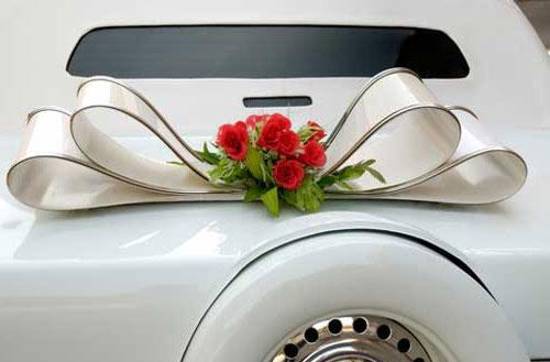 Украшение свадебной машины для ручек 77