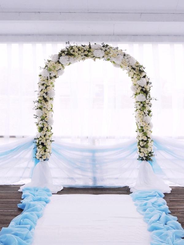 Варианты арки для свадьбы своими руками 54