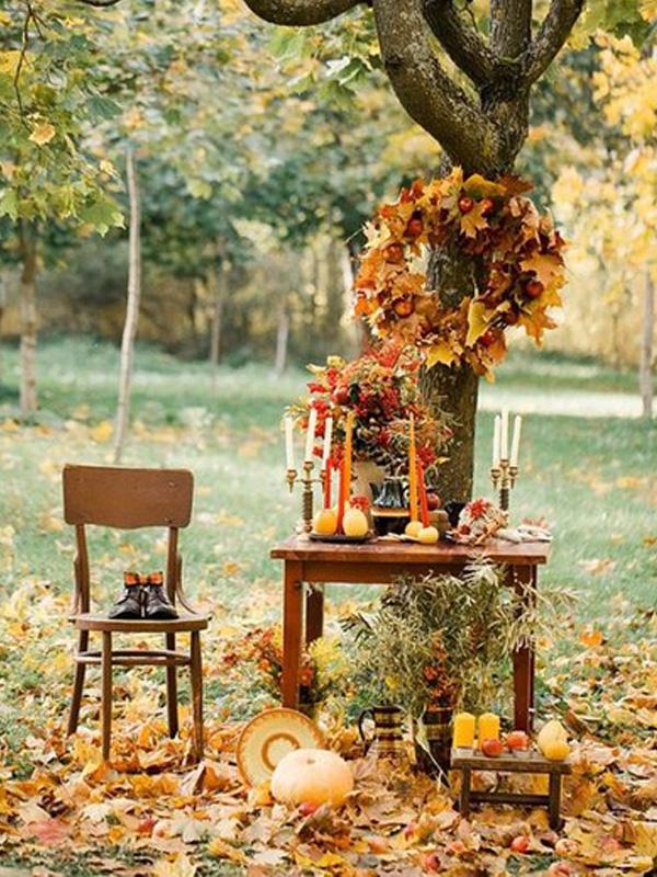 Осенний декор свадьбы