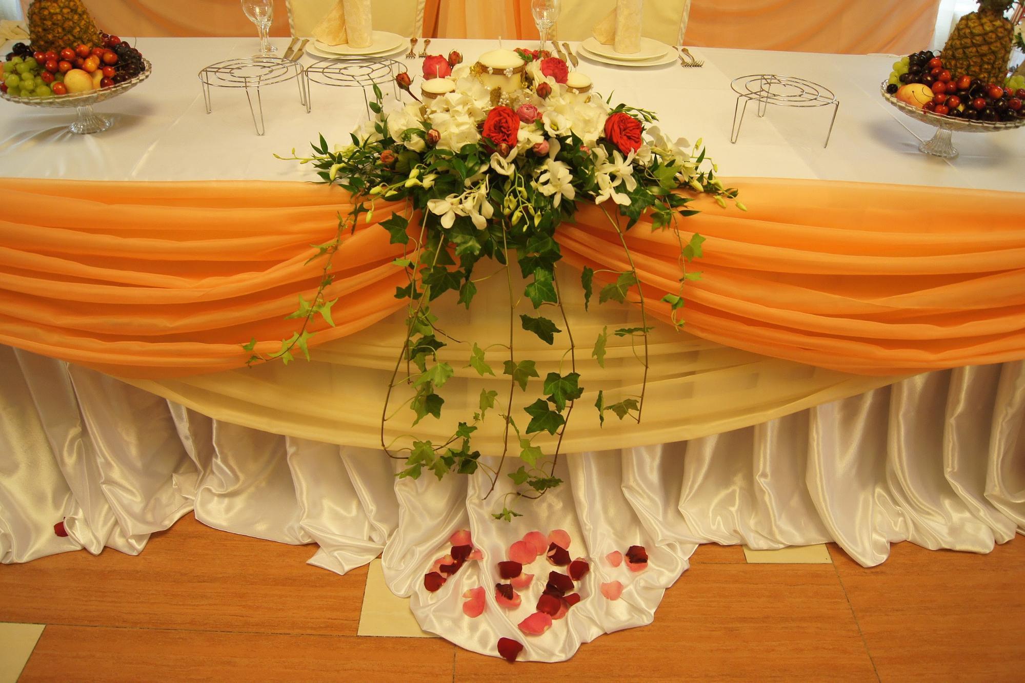 Оформление стола свадьбы фото