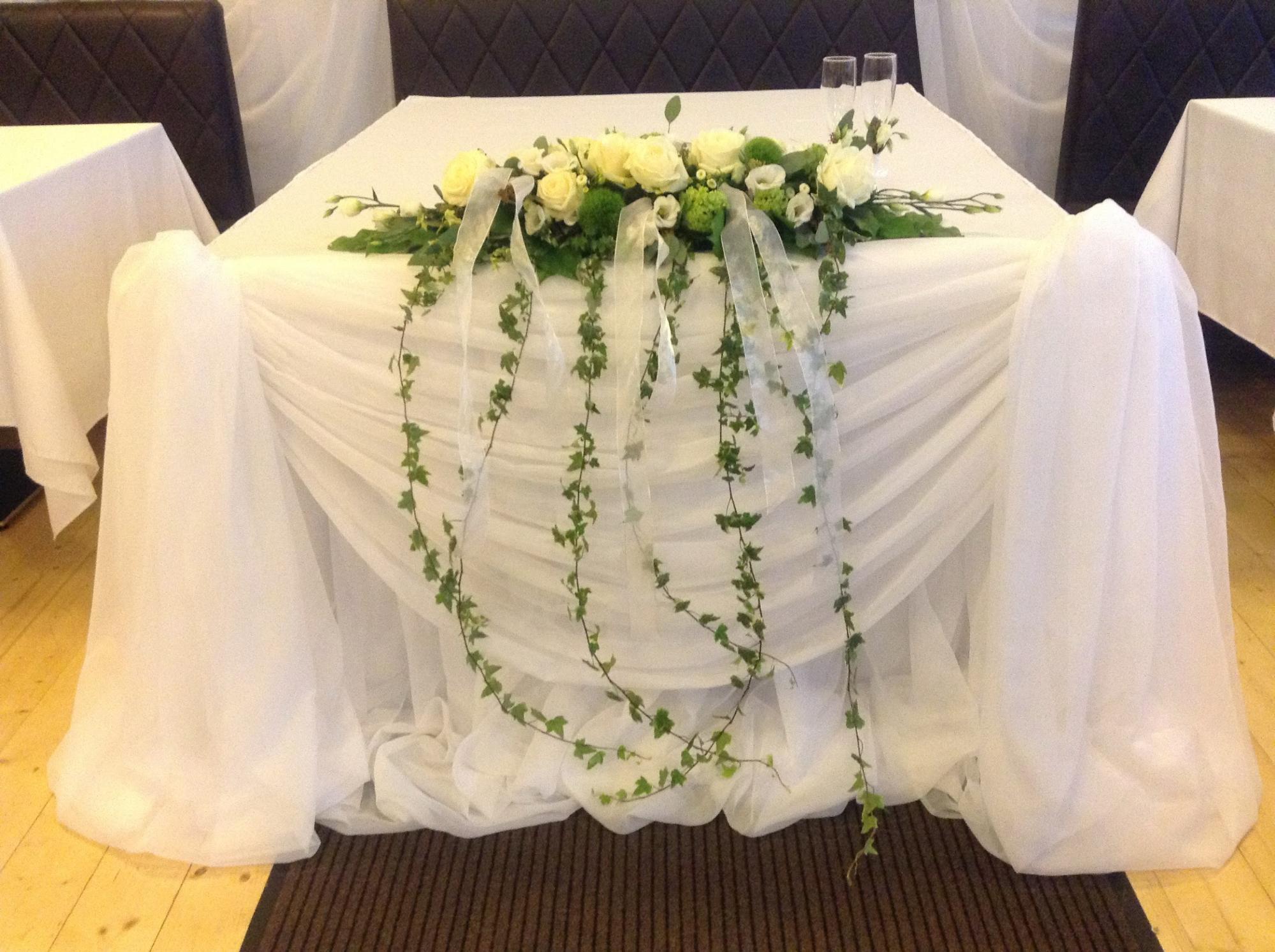 Украшение на свадебный стол цены фото
