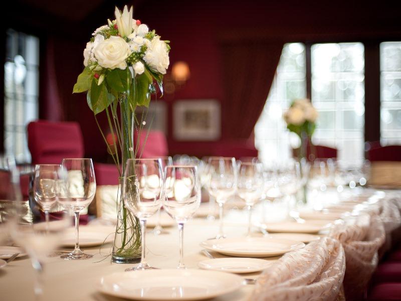 Фото цветы на стол гостей