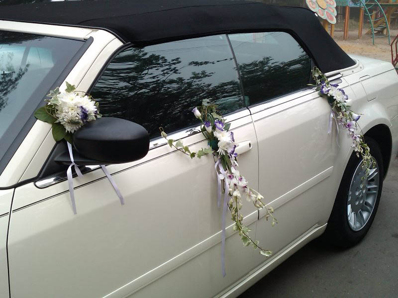 Свадебные украшения на машину своими руками. Как украсить