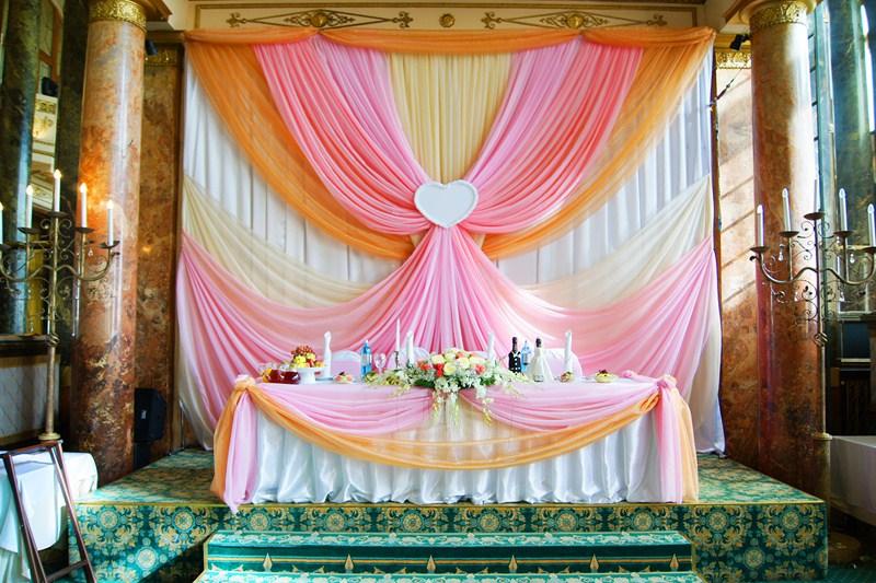 Декор свадьбы тканью своими руками