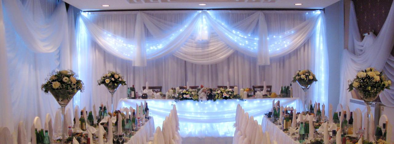Фото оформления свадебного зала: 413 года на 83